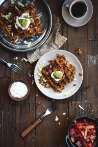 Chili Cheese Hash Brown Waffles