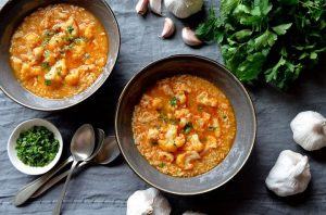 Cod Cauliflower Soup