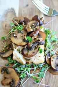 Cod with Beer & Mushroom Sauce