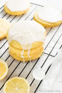 Glazed Coconut Lemon Sugar Cookies