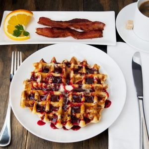 Huckleberry Waffles