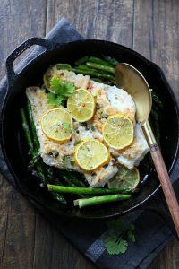 Lemon Caper Baked Cod