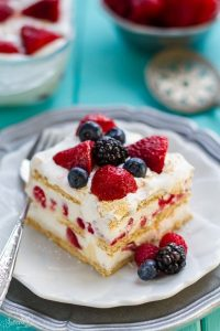 Mixed Berry Icebox Cake