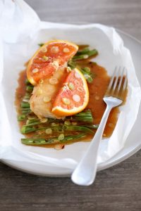 One Pan Citrus Miso Cod & Green Beans