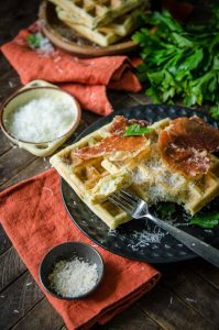 Parmesan Parsley Waffles