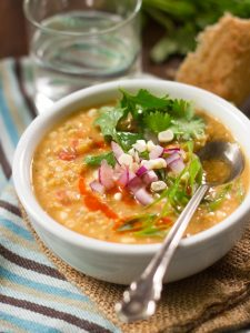 Red Lentil Corn Chowder