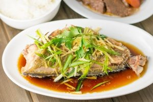 Steamed Rock Cod