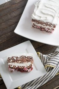 Swiss Roll Ice Cream Cake