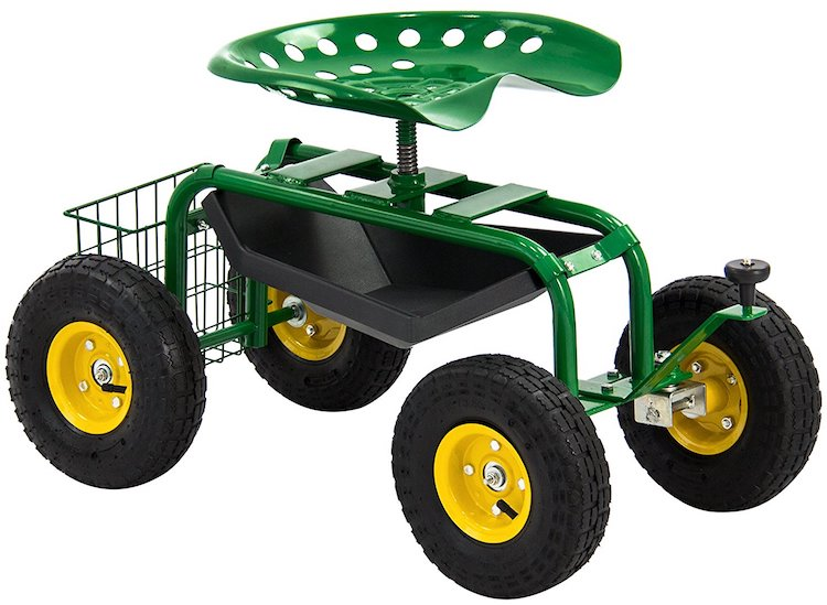 Best Choice Rolling Work Seat Garden Cart