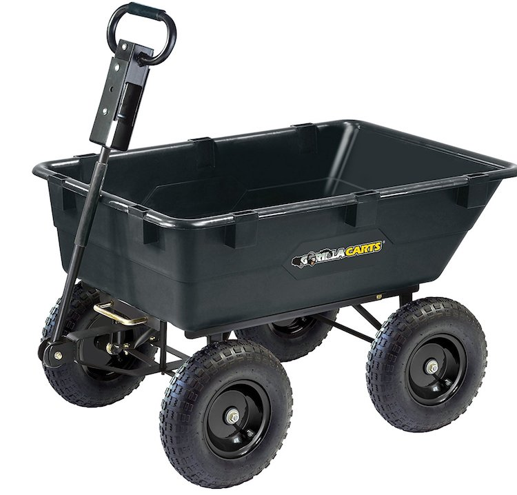 Gorilla Carts Poly Garden Cart