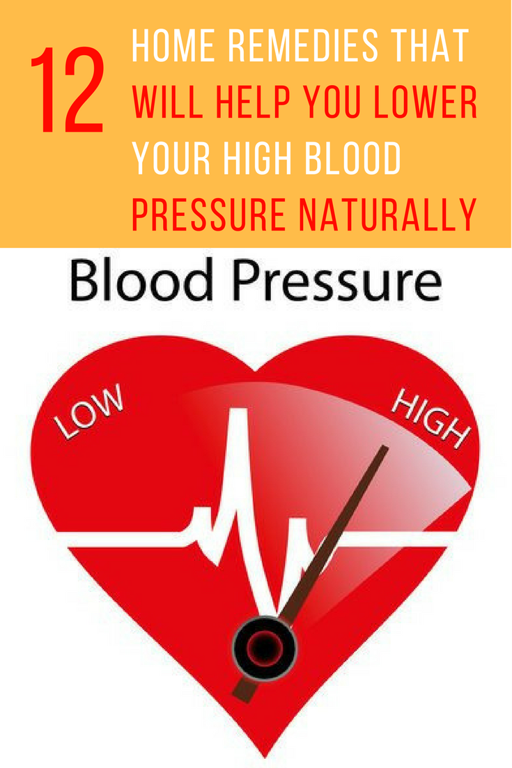 12 Home Remedies To Lower Your High Blood Pressure Naturally. | Ideahacks.com