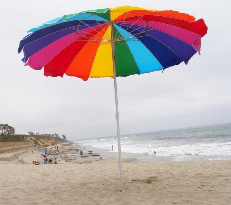 Impact Canopy Beach Umbrella Rainbow