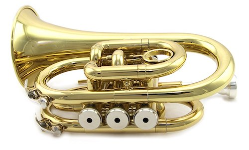 Rossetti Pocket Trumpet Lacquer Gold