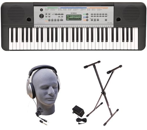 Yamaha YPT255 61–key keyboard