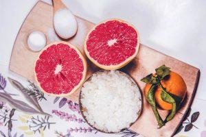 Homemade Body Scrub with Grapefruit & Orange