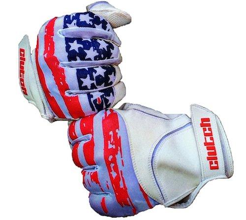 Clutch Sports Apparel American Flag Baseball Batting Gloves