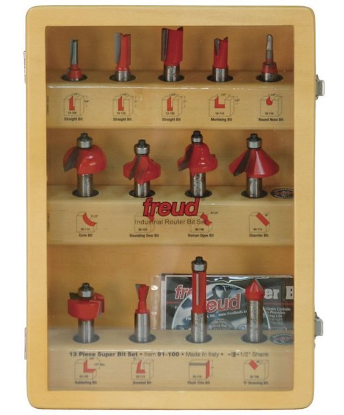Freud 91-100 13-Piece Super Router Bit Set