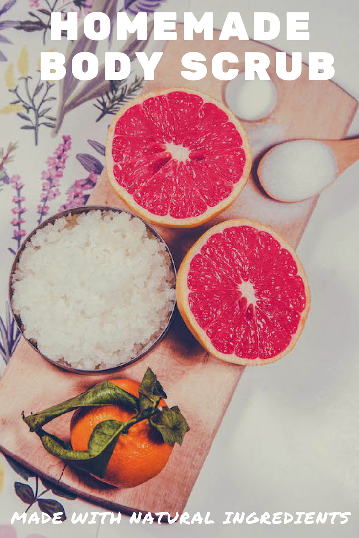 Homemade Body Scrub with Grapefruit & Orange. | Ideahacks.com