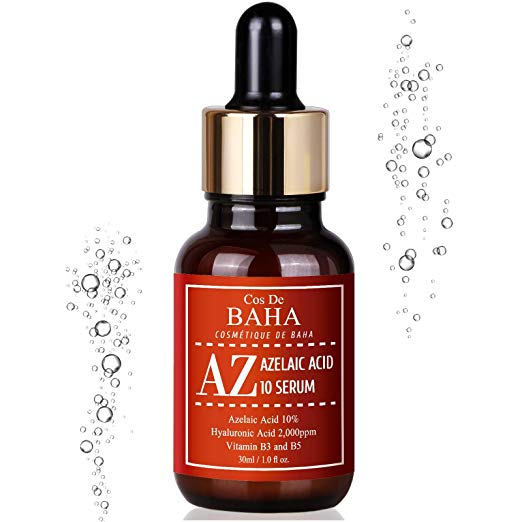 Azelaic Acid 10% Serum 1oz with Niacinamide - Acne Scar Removal + Cystic Acne + Redness Relief Face