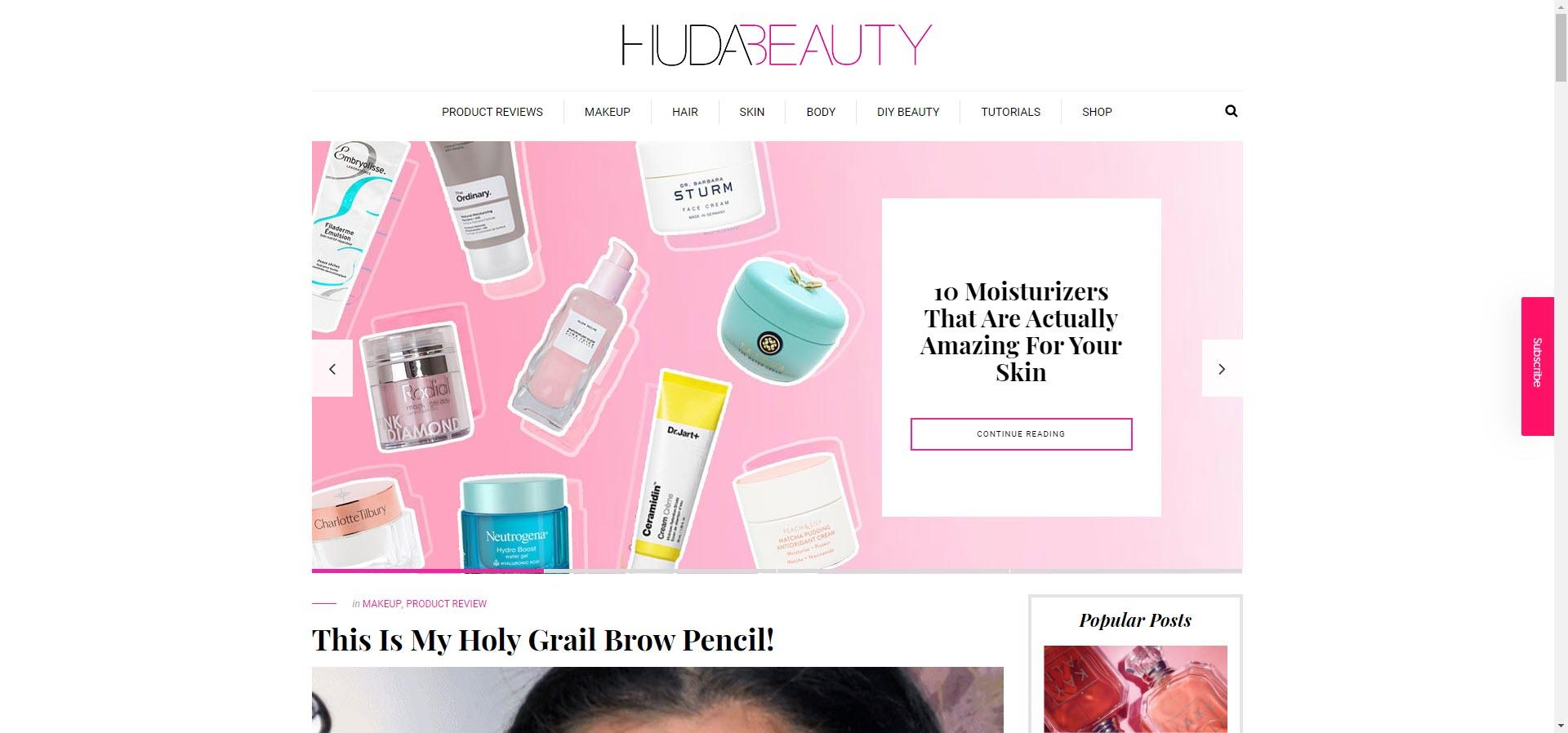 Huda Beauty best beauty blogs