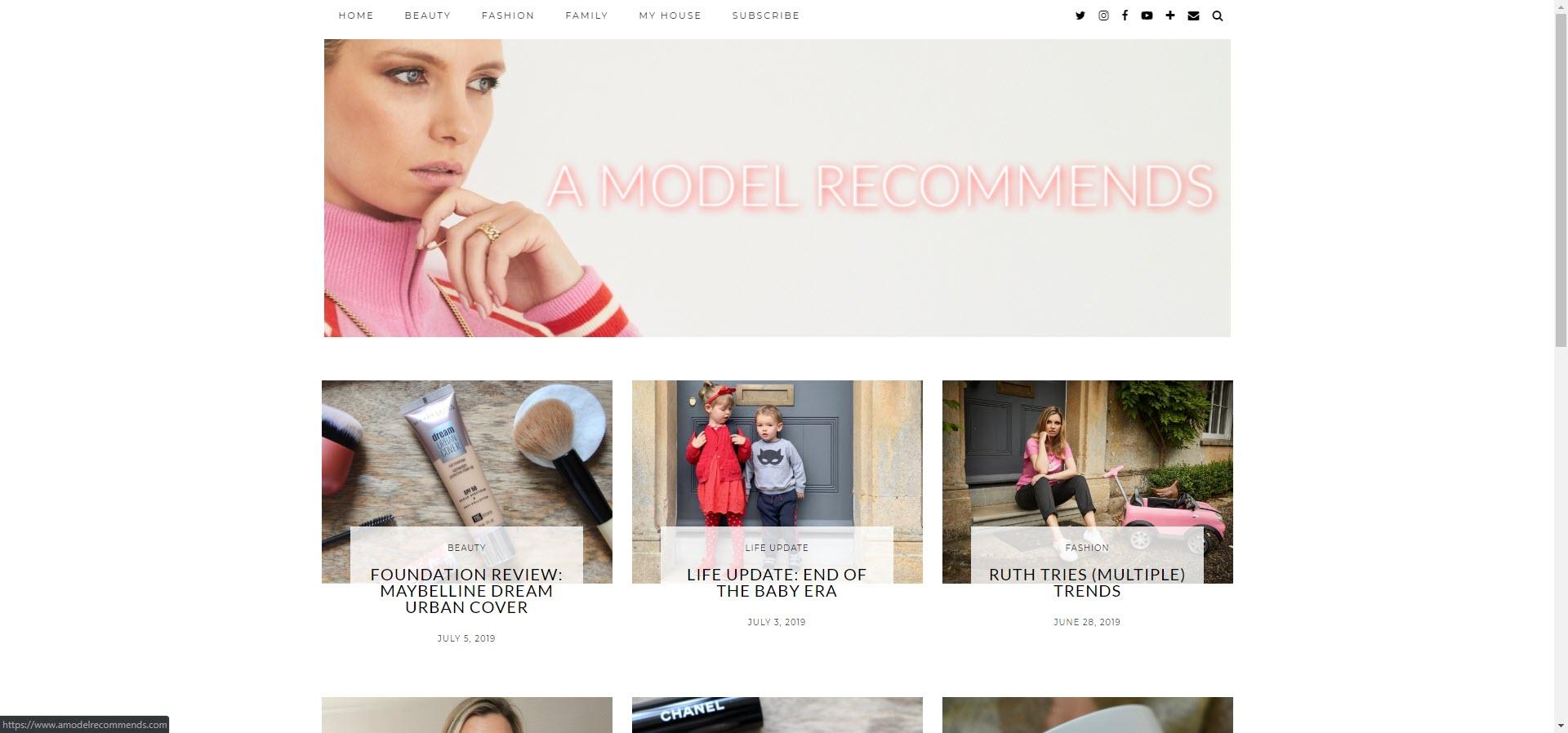 Model best beauty blogs