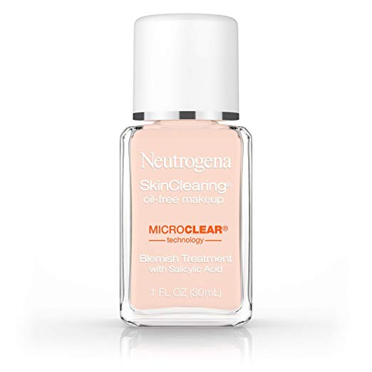 Neutrogena Skinclearing Makeup, 20 Natural Ivory, 1 Fl. Oz.