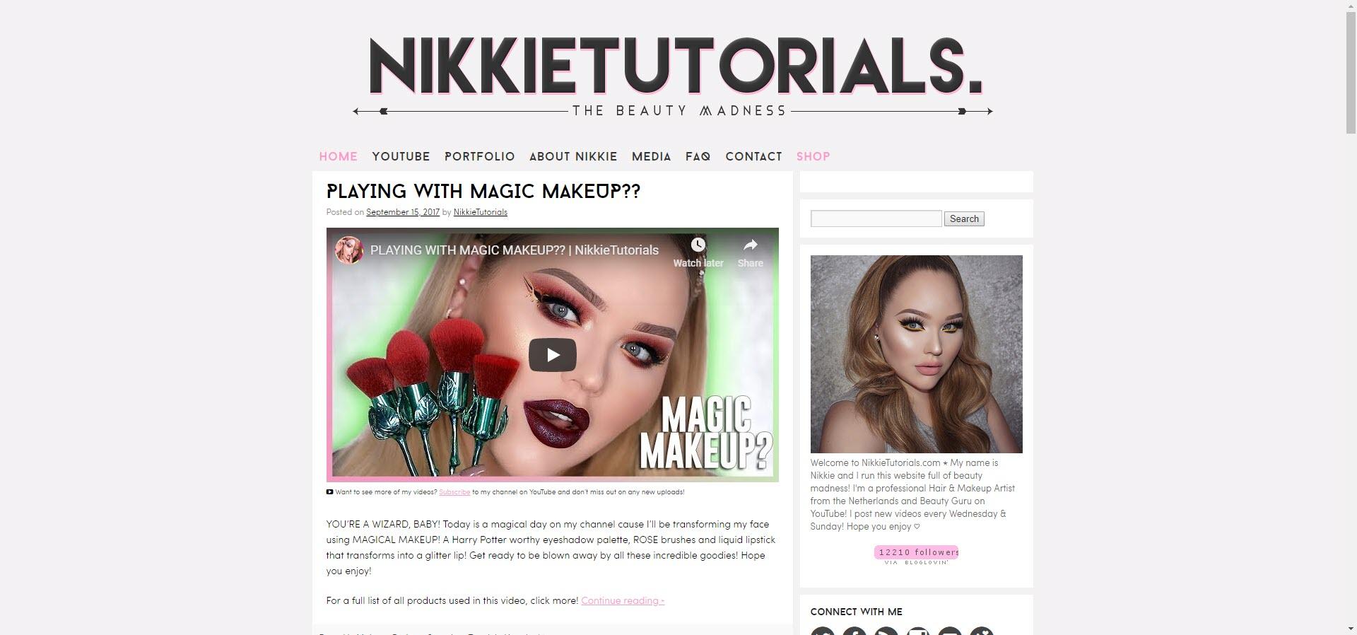 Nikkie best beauty blogs