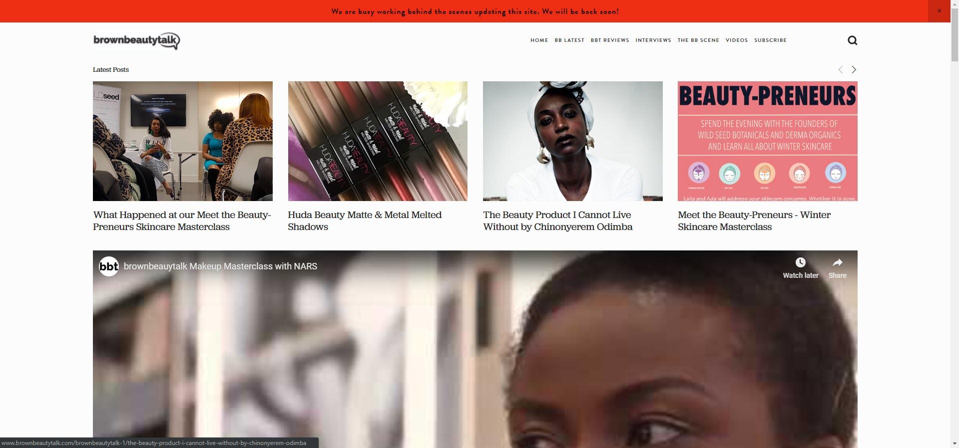 brown best beauty blogs