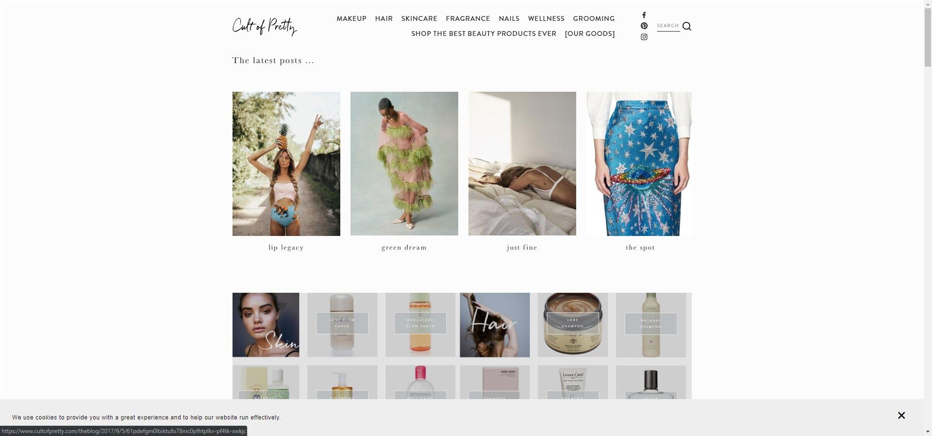 cult best beauty blogs