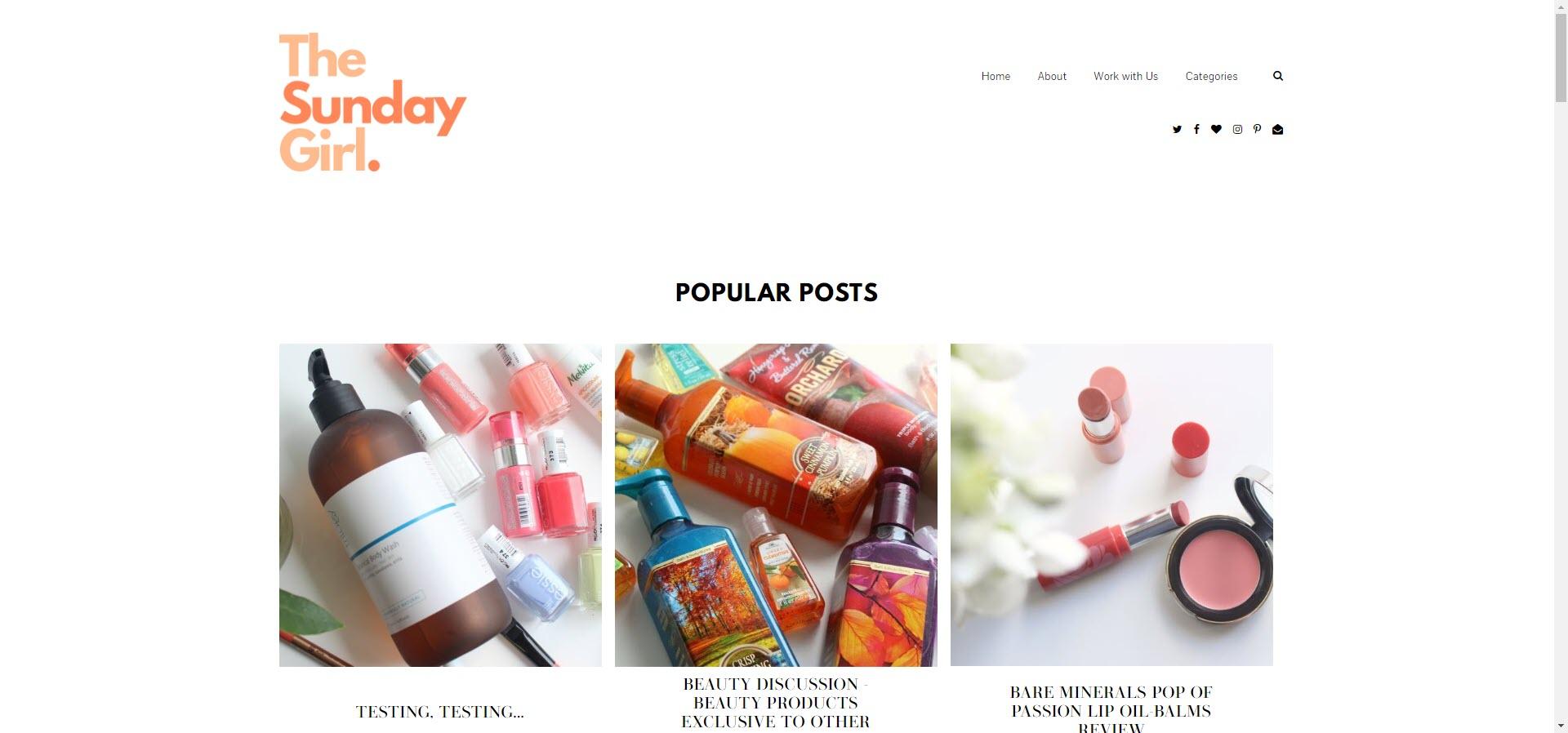 sunday best beauty blogs