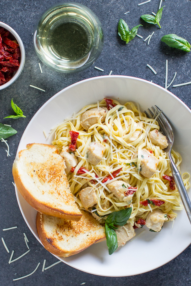 Creamy Chicken Pasta With SunDried Tomatoes