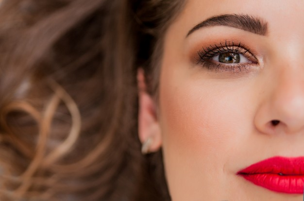 glamour portrait beautiful woman model with fresh daily makeup