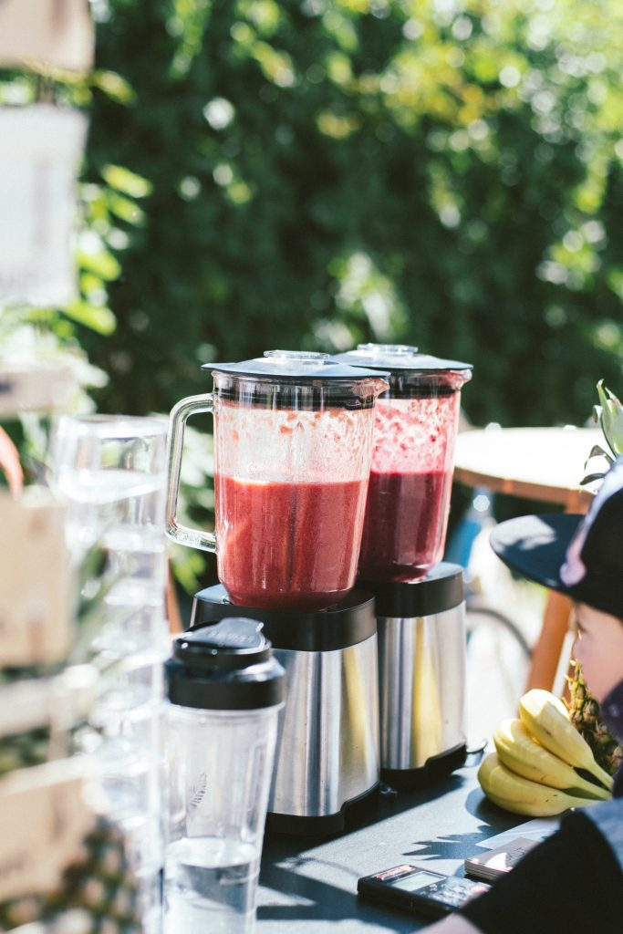 two half full smoothie makers
