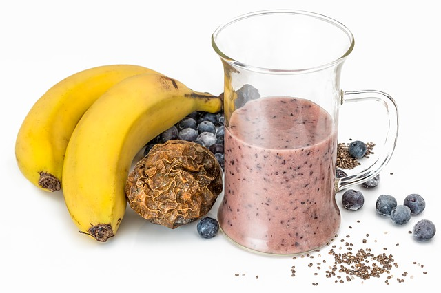 a glass of Blueberry-Chia Smoothie