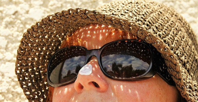 sunscreen on nose