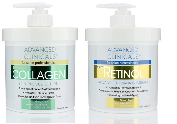Advanced Clinicals Skin Rescue Lotion and Retinol Cream Set
